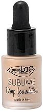 Düfte, Parfümerie und Kosmetik Flüssige Foundation - PuroBio Sublime Drop Foundation