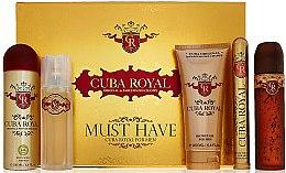 Düfte, Parfümerie und Kosmetik Cuba Royal Must Have - Duftset (Eau de Toilette 100ml + After Shave Lotion 100ml + Duschgel 200ml + Deospray 200ml + Eau de Toilette 35ml)