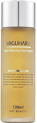 Intensiv feuchtigkeitsspendende und aufhellende Gesichtsessenz - Miguhara Ultra Whitening First Essence