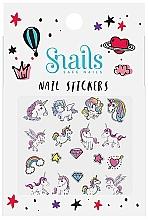 Düfte, Parfümerie und Kosmetik Dekorative Nagelsticker - Snails Nail Stickers (1 St.)