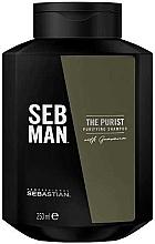 Düfte, Parfümerie und Kosmetik Tiefenreinigendes Shampoo mit Guarana-Extrakt - Sebastian Professional Seb Man The Purist Purifying Shampoo