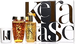 Düfte, Parfümerie und Kosmetik Haarpflegeset - Kerastase Elixir Ultime Luxury Gift Set (Shampoo 250ml + Haaröl 100ml + Duftkerze 100g)