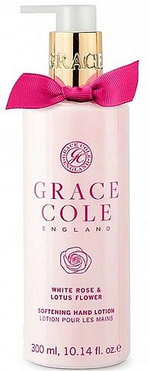 Aufweichende Handlotion mit weißer Rose und Lotosblume - Grace Cole White Rose & Lotus Flower Hand Lotion