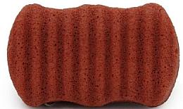 Düfte, Parfümerie und Kosmetik Peelingschwamm für Gesicht und Körper mit Konjak-Wurzel und roter Tonerde - Bebevisa Konjac Sponge