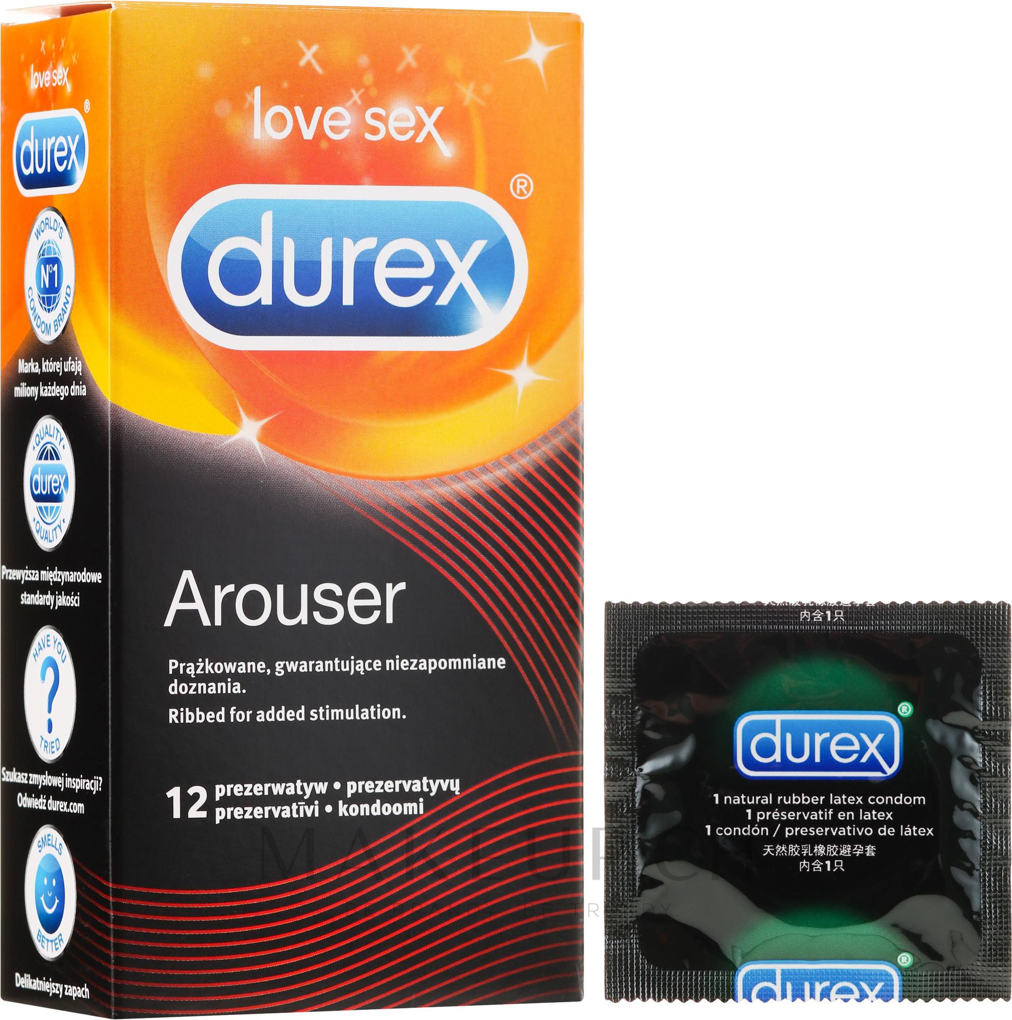 Gerippte Kondome 12 St. - Durex Arouser — Bild 12 St..