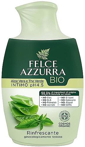 Flüssigseife für die Intimhygiene mit Aloe Vera und grünem Tee - Felce Azzurra BIO Aloe Vera&Green Tea