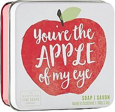 Düfte, Parfümerie und Kosmetik Seife im Metallbox mit Apfelduft - Scottish Fine Soap In A Tin Fruits Apple Soap