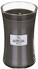 Düfte, Parfümerie und Kosmetik Duftkeze im Glas Black Amber & Citrus - WoodWick Hourglass Candle Black Amber & Citrus
