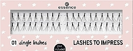 Düfte, Parfümerie und Kosmetik Künstliche Wimpern - Essence Lashes To Impress 01 Single Lashes