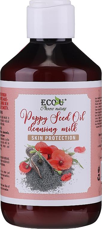 Gesichtsreinigungsmilch mit Mohnöl - Eco U Poppy Seed Oil Cleansing Milk