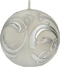 Düfte, Parfümerie und Kosmetik Dekorative Kerze Ball grau 8 cm - Artman Christmas Ornament