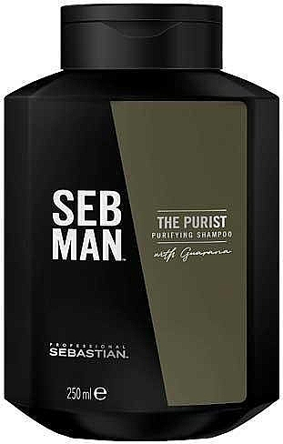 Tiefenreinigendes Shampoo mit Guarana-Extrakt - Sebastian Professional Seb Man The Purist Purifying Shampoo