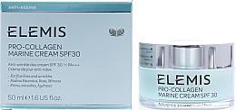 Düfte, Parfümerie und Kosmetik Glättende und feuchtigkeitsspendende Anti-Falten Tagescreme mit Sonnenschutz SPF 30 - Elemis Pro-Collagen Marine Cream SPF30