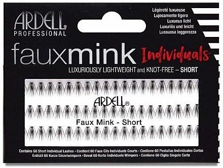 Wimpernbüschel-Set - Ardell Faux Mink Individuals Knot Free-Short Black