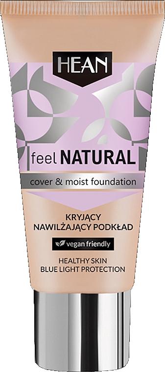 Feuchtigkeitsspendende Foundation - Hean Feel Natural Cover & Moist Foundation