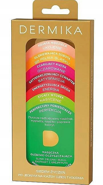 Gesichtsmasken für jeden Wochentag (7 x 3 ml) - Dermika Seven Wishes