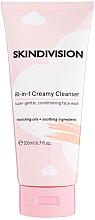 Düfte, Parfümerie und Kosmetik Gesichtsreinigungscreme-Schaum mit Gurkenextrakt, Kokosnuss- und Süßmandelöl - SkinDivision All-in-1 Creamy Cleanser