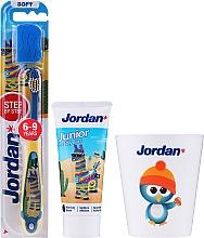 Düfte, Parfümerie und Kosmetik Zahnpflegeset für Kinder Alpaka 6-9 Jahre - Jordan Junior (Zahnpasta 50ml + Zahnbürste 1St. + Zahnputzbecher)