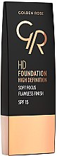 Düfte, Parfümerie und Kosmetik Foundation - Golden Rose HD Foundation High Definition