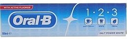 Düfte, Parfümerie und Kosmetik Erfrischende und aufhellende Zahnpasta mit Fluorid - Oral B 1-2-3 Salt Power White Toothpaste