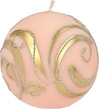 Düfte, Parfümerie und Kosmetik Dekorative Kerze Ball rosa 8 cm - Artman Christmas Ornament