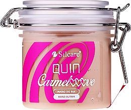 Düfte, Parfümerie und Kosmetik Pflegende Handbutter im Glas mit Glycerin, Vitamin E und D-Panthenol - Silcare Quin Carmelooove Handbutter