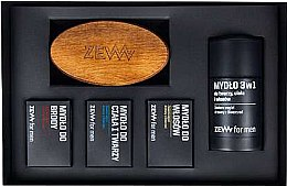 Düfte, Parfümerie und Kosmetik Zew The Bearded Man's Holiday Set - Kosmetikset (Haarseife/85ml + Bartseife/85ml + Körper- und Gesichtsseife/85ml + 3in1 Gesichts-, Körper- und Haarseife/85ml + Bartbürste)