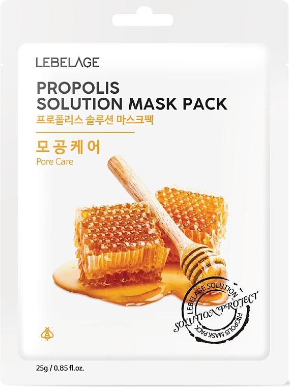 Verjüngende Gesichtsmaske mit Propolis - Lebelage Propolis Solution Mask