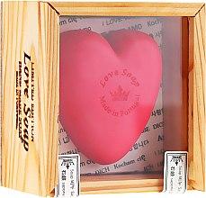 Düfte, Parfümerie und Kosmetik Herzförmige Naturseife im holzigen Geschenkbox - Essencias De Portugal Love Soap Wooden Box