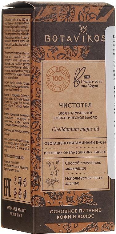 100% Natürliches kosmetisches Öl mit Schöllkraut - Botavikos Natural Chelidonium Majus Oil