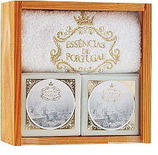 Düfte, Parfümerie und Kosmetik Seifenset - Essencias De Portugal Senses Wooden Box (Seife 2x200g + Handtuch)