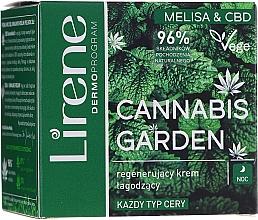 Düfte, Parfümerie und Kosmetik Regenerierende und beruhigende Gesichtscreme mit Zitronenmelisse und CBD - Lirene Cannabis Garden Melissa & CBD