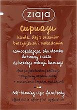 Düfte, Parfümerie und Kosmetik Selbstbräunungstuch für Gesicht und Körper - Ziaja Cupuacu