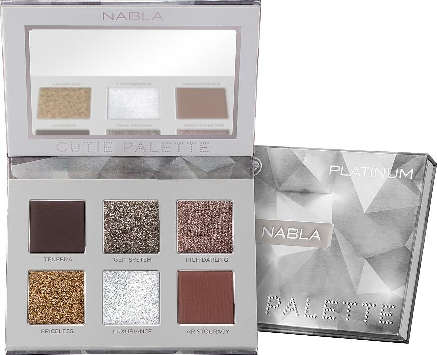 Lidschattenpalette - Nabla Cutie Collection Palette Platinum
