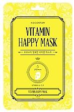 Düfte, Parfümerie und Kosmetik Tuchmaske für das Gesicht mit Vitaminen A,C und E für einen strahlenden Teint - Kocostar Vitamin Happy Mask