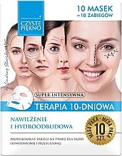 Düfte, Parfümerie und Kosmetik Regenerierende und feuchtigkeitsspendende Tuchmaske für das Gesicht - Czyste Piekno Moisturizing Therapy 10 Days