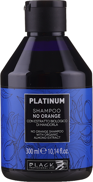 Anti-Orangestich Shampoo mit Bio Mandelextrakt - Black Professional Line Platinum No Orange Shampoo With Organic Almond Extract — Bild N1