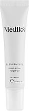 Düfte, Parfümerie und Kosmetik Porenreinigende und beruhigende Anti-Akne Gesichtscreme gegen Entzündungen mit Salicylsäure und Niacinamid - Medik8 Blemish SOS Rapid Action Target Gel