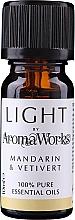 Düfte, Parfümerie und Kosmetik Ätherisches Öl Mandarine und Vetivert - AromaWorks Light Range Mandarin and Vetivert Essential Oil