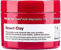 Düfte, Parfümerie und Kosmetik Haarwachs für Männer Starker Halt - Recipe for Men Desert Clay Wax