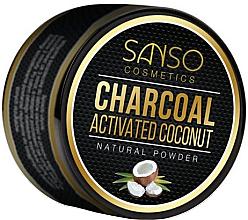 Düfte, Parfümerie und Kosmetik Natürliches Zahnweiß-Pulver mit Aktivkohle - Sanso Cosmetics Charcoal Activated Coconut Natural Powder