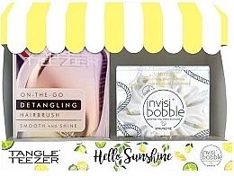 Düfte, Parfümerie und Kosmetik Haarpflegeset - Tangle Teezer Compact Styler Hello Sunshine Set (Haarbürste 1 St. + Haargummi 1 St.)