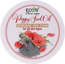 Düfte, Parfümerie und Kosmetik Erfrischende Gesichtscreme mit Mohnöl für alle Hauttypen - Eco U Poppy Seed Oil Refreshing Face Cream For All Skin Type
