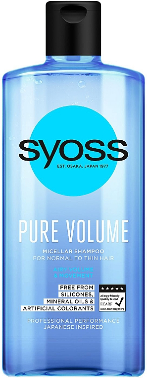 Mizellen-Shampoo für mehr Volumen - Syoss Pure Volume Micellar Shampoo