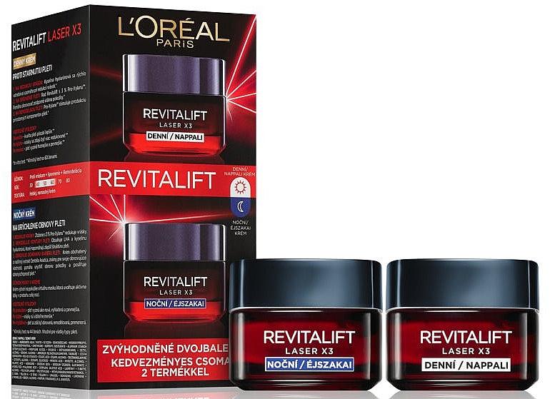 Gesichtspflegeset - L'Oreal Paris Revitalift Laser X3 (Tagescreme 50ml + Nachtcreme 50ml)