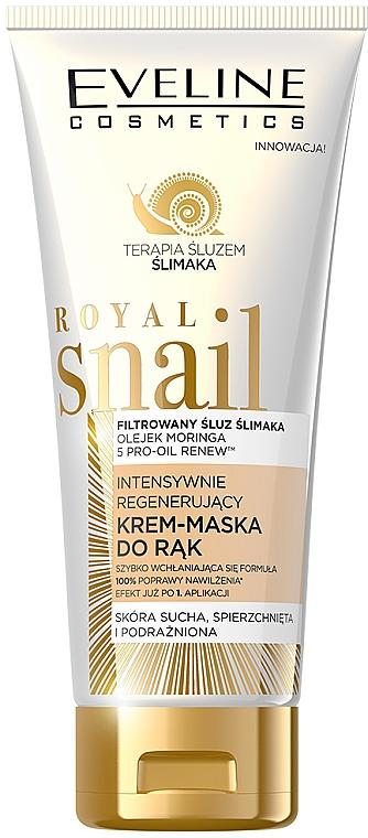Intensiv regenerierende Handcreme-Maske mit Schneckenschleimfiltrat - Eveline Cosmetics Royal Snai