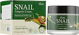 Düfte, Parfümerie und Kosmetik Regenerierende Anti-Falten Gesichtscreme mit Schneckenschleimfiltrat - Ekel Snail Ampule Cream