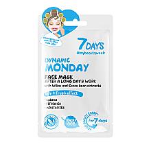 Düfte, Parfümerie und Kosmetik Reinigende Gesichtsmaske mit Weide und Kakaobohnenextrakt - 7 Days Dynamic Monday