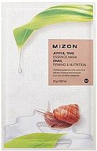 Düfte, Parfümerie und Kosmetik Straffende und nährende Tuchmaske für das Gesicht mit Schneckenextrakt - Mizon Joyful Time Essence Mask Snail