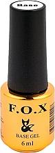 Düfte, Parfümerie und Kosmetik Nagel-Base mit 3D-Gelpolitur - F.O.X Base Rubber Gel